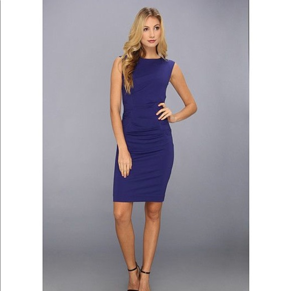 68d974f71f8 Nicole Miller Artelier Ruched Sapphire Dress Sm